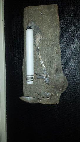 Ljus Ampel m antika bestick