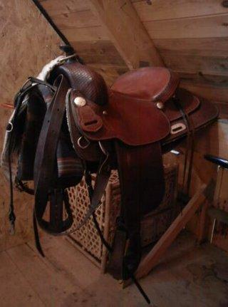 Western sadel. exklusiv