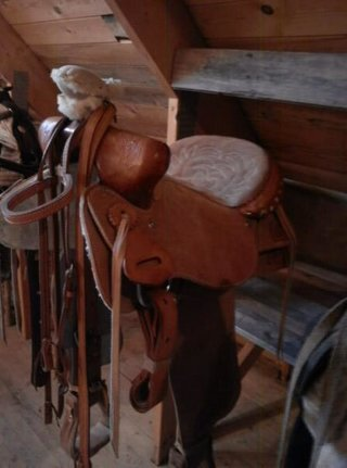 Western sadel. Ljus brun inkl pad & träns